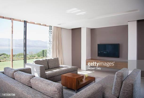 Sala de estar em casa Moderna