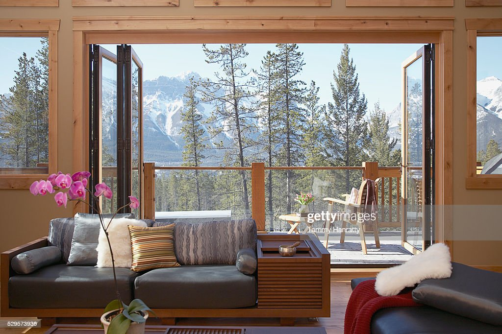 Living room in mountains : Stock-Foto
