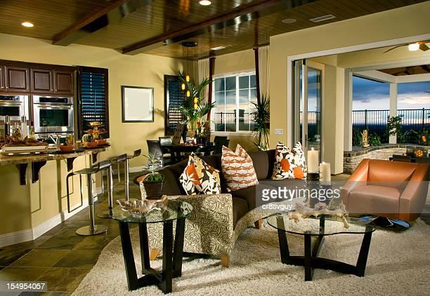 Intérieur de maison salle de séjour de Design