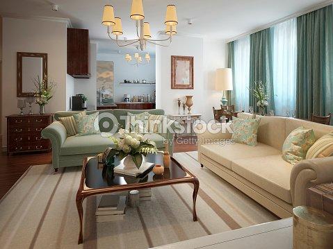 Soggiorno stile neoclassico foto stock thinkstock for Arredamento neoclassico
