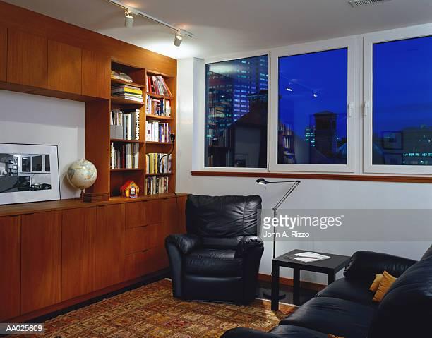 Living Room of Loft Apartment, Portland, Oregon