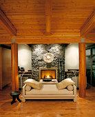 Living room of luxury estate home