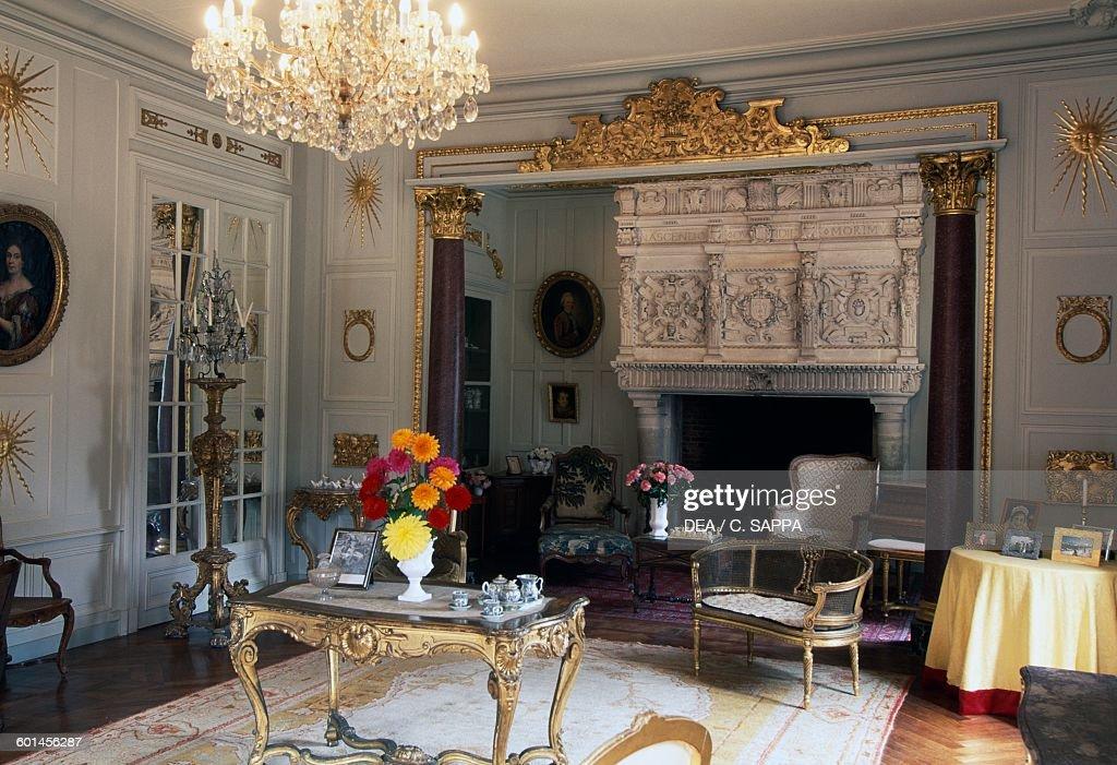 living room of the chateau de terre neuve fontenay le comte loire pictures getty images. Black Bedroom Furniture Sets. Home Design Ideas