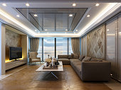 İnterior Design of a modern style living room