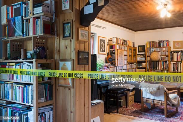 living room scene of crime