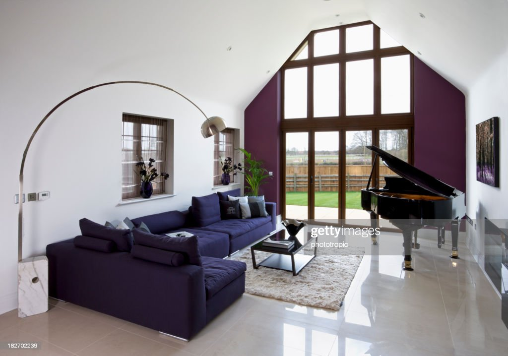 Living Room With Grand Piano : Stock Photo Part 73