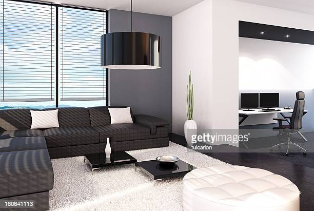Living Room with Home Office