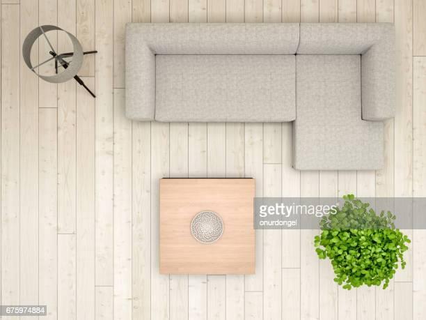 Livingroom overhead view