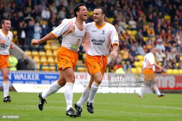 Livingston's Rolando Zarate celebrates scoring their second goal of the game against Motherwell