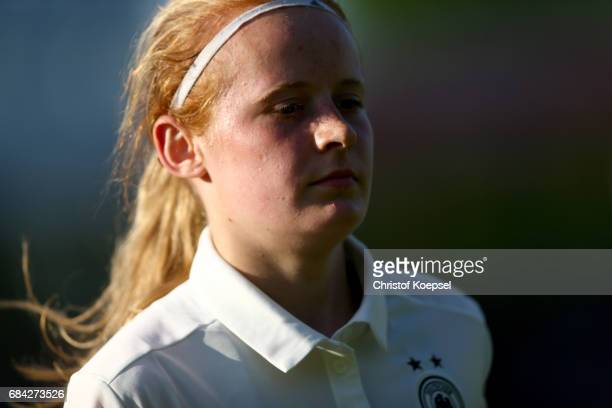 Livinia Seifert of Germany is seen during the U15 girl's international friendly match between Germany and Netherlands at Getraenke Hoffmann Stadion...