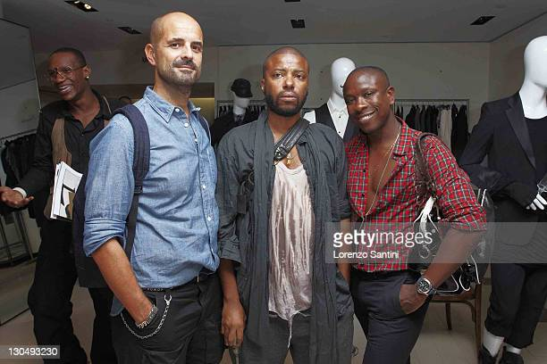 Livio Facchini Edward Bucchanan and Jason Campbell attend Barneys celebration of fashion week with L'Uomo Vogue at Barneys New York on September 8...