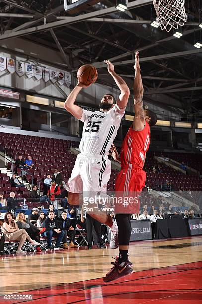 Livio JeanCharles of the Austin Spurs goes up for the shot against Gary Payton II of the Rio Grande Valley Vipers as part of 2017 NBA DLeague...