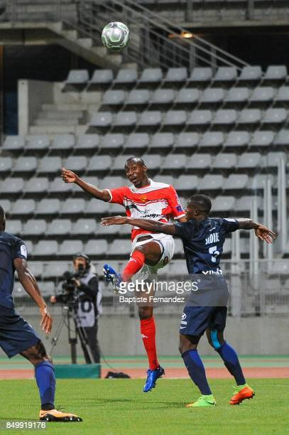 Livio Nabab of Orleans and Ousmane Sidibe of Paris FC during the French Ligue 2 mach between Paris FC and Orleans at Stade Charlety on September 19...