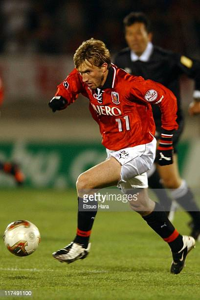 Livonir Ruschel or Tuto of Urawa Red Diamonds in action during the JLeague Divisioin 1 second stage match between Urawa Red Diamonds and Gamba Osaka...