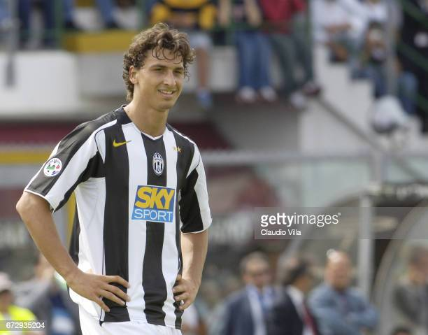 Zlatan Ibrahimovic of Juventus FC looks on during the Serie A 37th round match between Livorno vs Juventus of Turin played at the Armando Picchi...