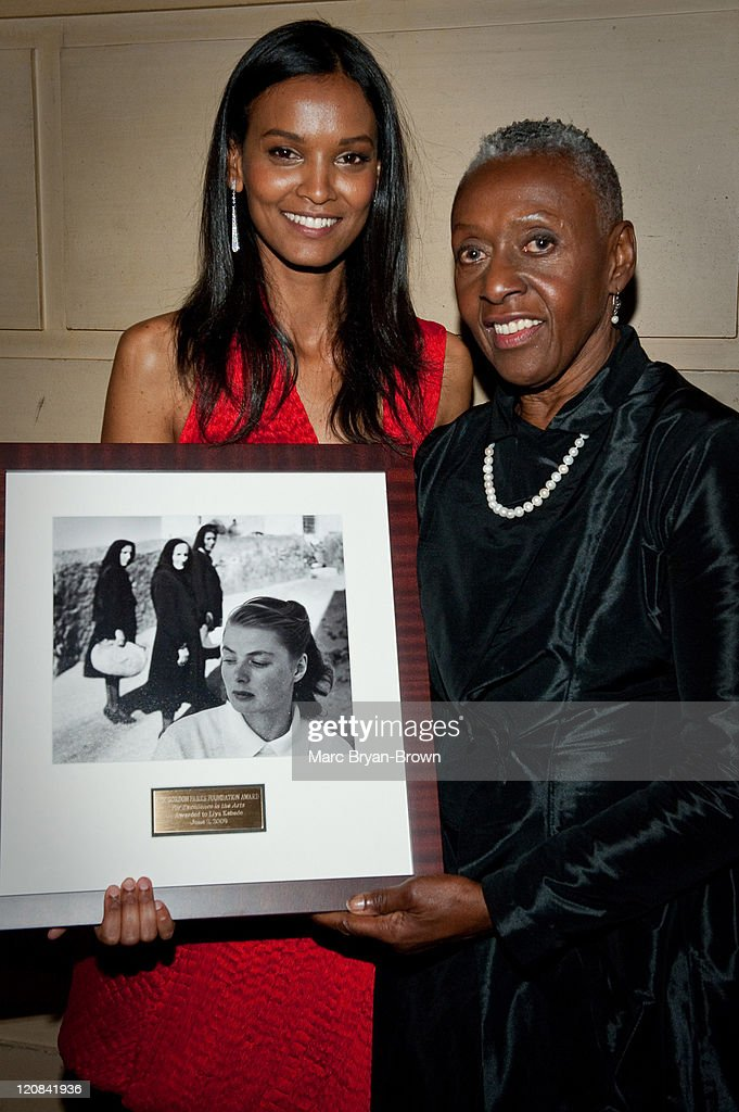 Liya Kebede and Bethann Hardison attend the Gordon Parks Foundation's Celebrating Spring fashion awards gala at Gotham Hall on June 2 2009 in New...