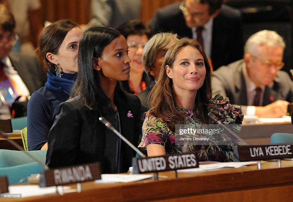 Christy Turlington & Liya Kebede Attend The UN General Assembly Conference