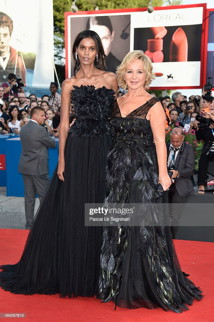 Liya Kebede and designer Alberta Ferretti attend the Opening Ceremony and 'Birdman' premiere during the 71st Venice Film Festival on August 27 2014...