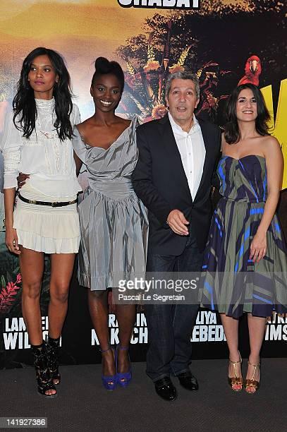 Liya Kebede Aïssa Maïgan Alain Chabat and Géraldine Nakache attend 'Sur La Piste Du Marsupilami' Premiere at Gaumont Champs Elysees on March 26 2012...