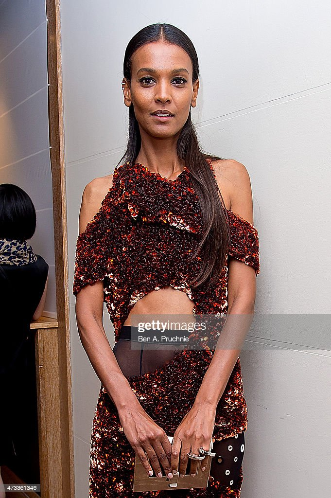 Liya Kebede attends a party hosted by L'Oreal Paris UniFrance and Stylist during the 68th annual Cannes Film Festival on May 14 2015 in Cannes France
