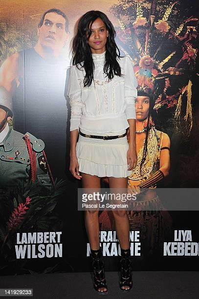 Liya Kebede attends 'Sur La Piste Du Marsupilami' Premiere at Gaumont Champs Elysees on March 26 2012 in Paris France
