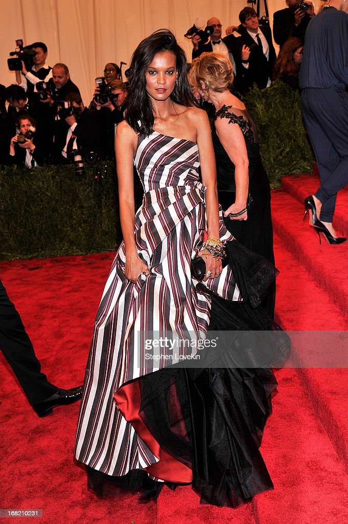 Liya Kebede attends the Costume Institute Gala for the 'PUNK: Chaos to Couture' exhibition at the Metropolitan Museum of Art on May 6, 2013 in New York City.