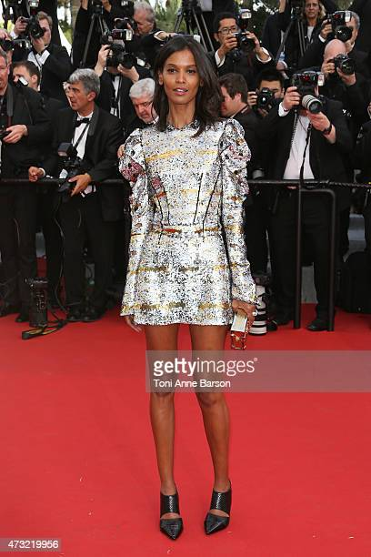 Liya Kebede attends the opening ceremony and 'La Tete Haute' premiere during the 68th annual Cannes Film Festival on May 13 2015 in Cannes France