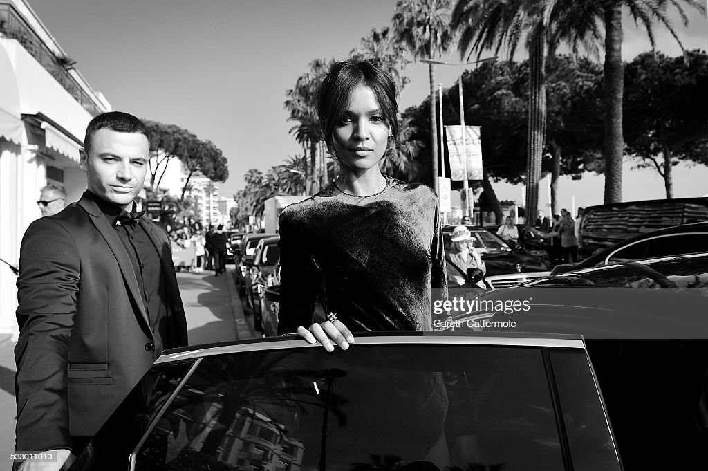 Liya Kebede departs the Martinez Hotel during the 69th annual Cannes Film Festival on May 17 2016 in Cannes France