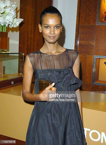 Liya Kebede during Tom Ford Estee Lauder SAKS Launch at SAKS Fifth Avenue in New York City New York United States