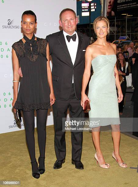 Liya Kebede John Demsey and Carolyn Murphy during 2006 CFDA Awards Arrivals at New York Public Library in New York City New York United States