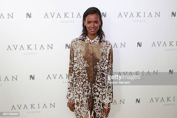 Liya Kebede visits The Avakian Suite on May 19 2014 in Cannes France