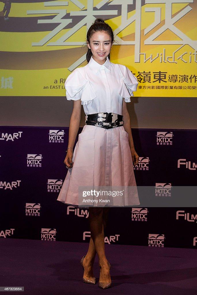 Liya Tong attends the Wild City Press Conference during the 39th Hong Kong International Film Festival at Hong Kong Convention and Exhibition Centre on March 23, 2015 in Hong Kong, Hong Kong.