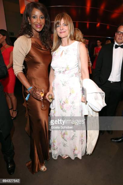 Liz Baffoe and Nastassja Kinski during the Toni Kroos charity gala benefit to the Toni Kroos Foundation at 'The Palladium' on June 9 2017 in Cologne...