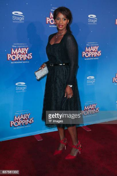 Liz Baffoe attend the red carpet at the premiere of the Mary Poppins musical at Stage Apollo Theater on October 23 2016 in Stuttgart Germany