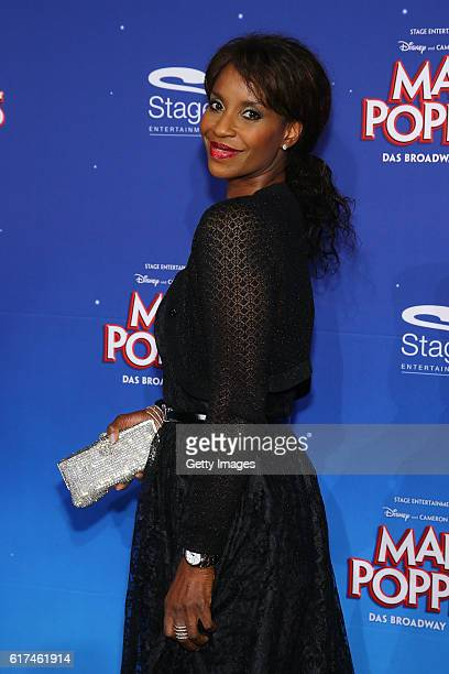 Liz Baffoe attends the red carpet at the premiere of the Mary Poppins musical at Stage Apollo Theater on October 23 2016 in Stuttgart Germany
