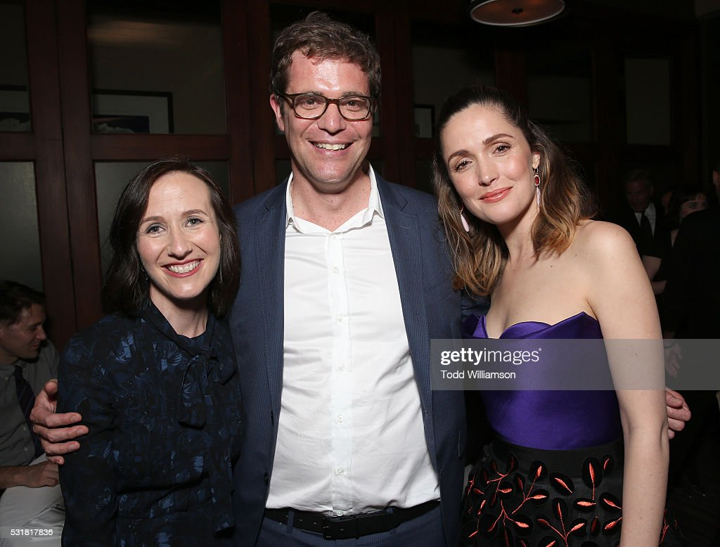 Liz Cackowski, Nicholas Stoller and Rose Byrne attend the after party for the premiere of Universal Pictures' 'Neighbors 2: Sorority Rising' on May 16, 2016 in Los Angeles, California.