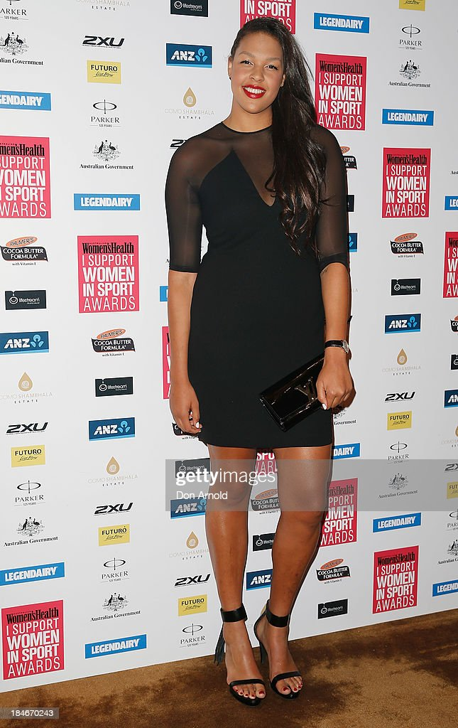 Liz Cambage arrives at the 'I Support Women In Sport' awards at The Ivy Ballroom on October 15, 2013 in Sydney, Australia.