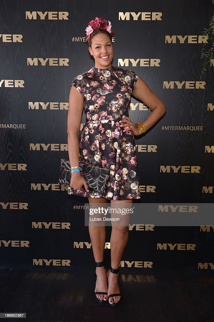 Liz Cambage attends the Myer marquee during Melbourne Cup Day at Flemington Racecourse on November 5, 2013 in Melbourne, Australia.
