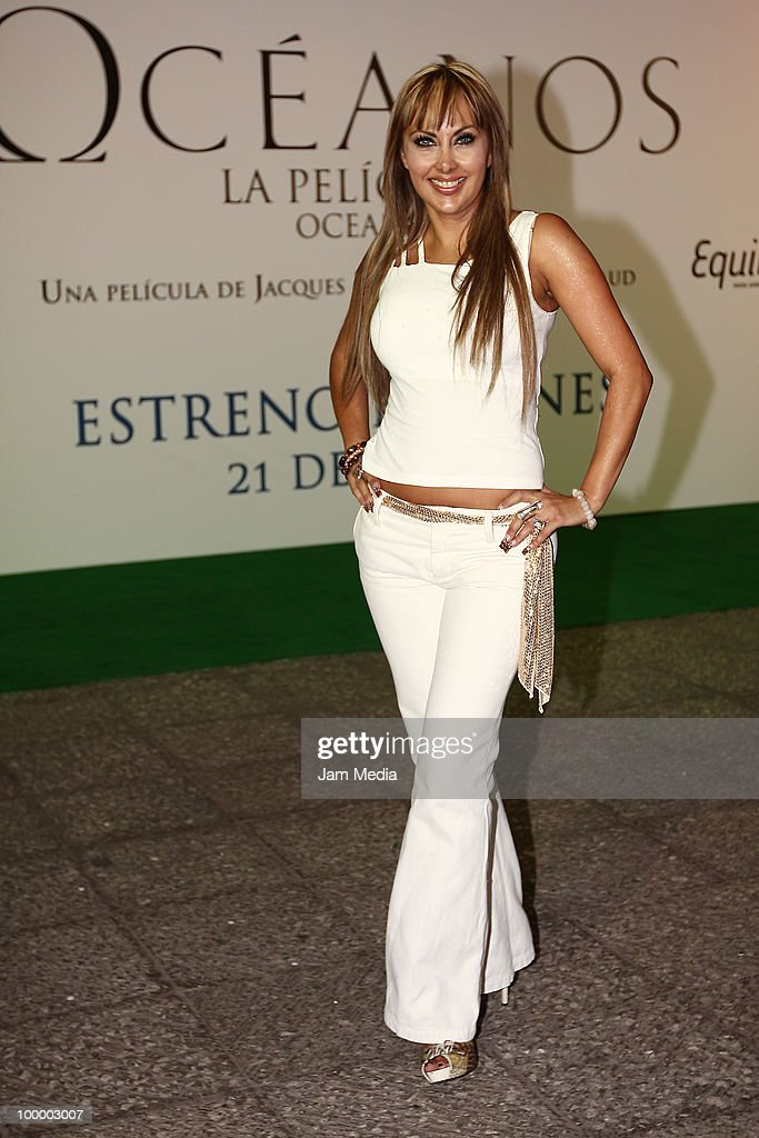 Liz Clapes poses for a photograph at the green carpet of the movie ?Oceanos? at the National Auditorium on May 19, 2010 in Mexico City, Mexico.