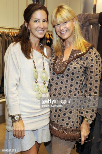 Liz Cohen and Marcy Warren attend CARLOS FALCHI JEFFREY THORPE Host A TwoDay Presentation at Magaschoni on July 23 2010 in Southampton NY