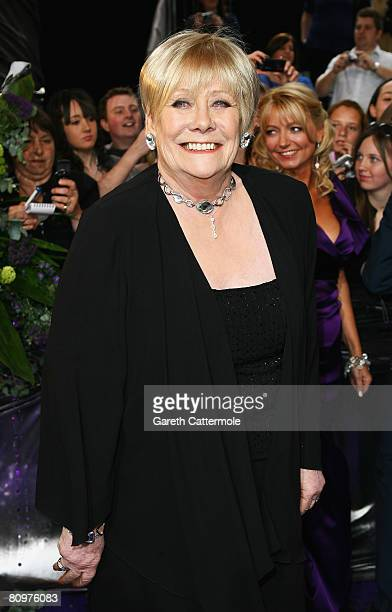 Liz Dawn arrives for the British Soap Awards 2008 at BBC Television Centre on May 3 2008 in London England