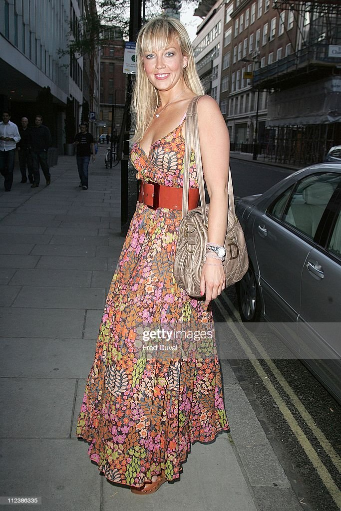Liz Fuller during 'Arrogant Cat' Clothing Party Outside Arrivals April 19 2007 at Sanderson Hotel in London Great Britain