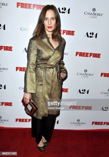 Liz Goldwyn arrive at the Premiere Of A24's 'Free Fire' at ArcLight Hollywood on April 13 2017 in Hollywood California