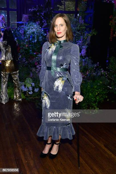 Liz Goldwyn at HM x ERDEM Runway Show Party at The Ebell Club of Los Angeles on October 18 2017 in Los Angeles California