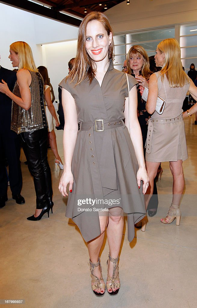 Liz Goldwyn attends a cocktail reception hosted by Ferragamo to announce the inaugural opening gala for the Wallis Annenberg Center for the Performing Arts at Gagosian Gallery on May 3, 2013 in Beverly Hills, California.