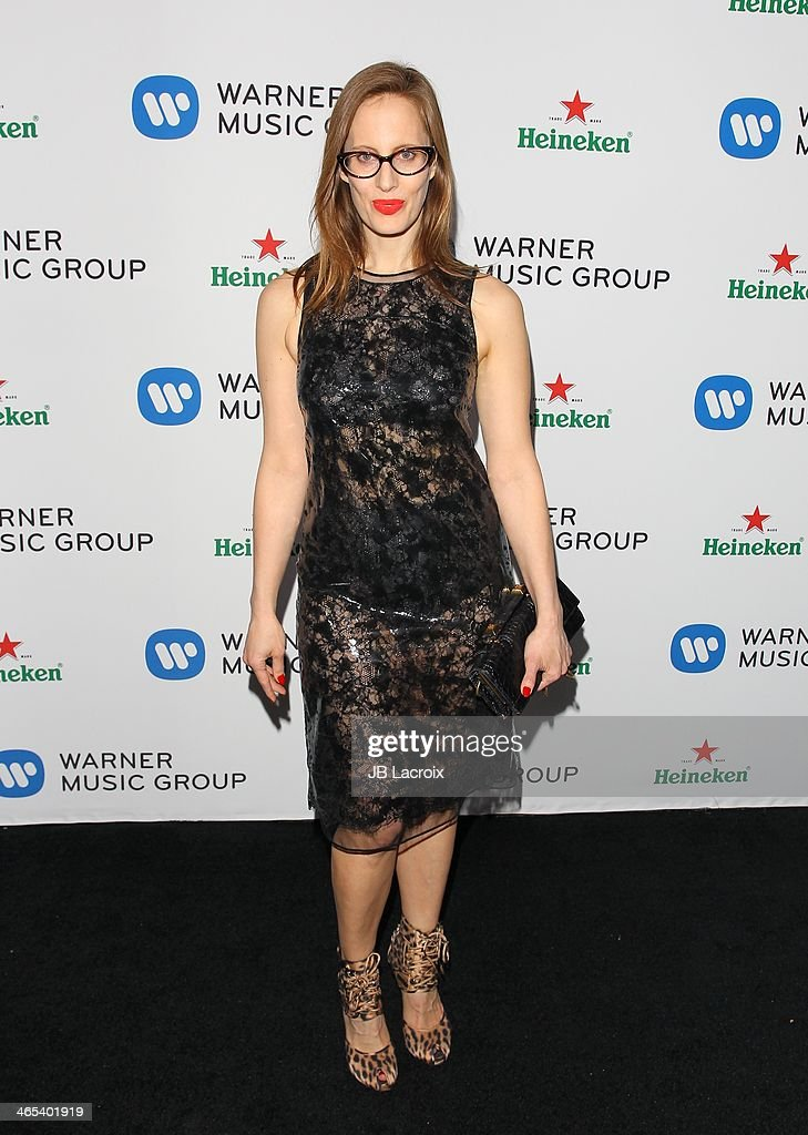 <a gi-track='captionPersonalityLinkClicked' href=/galleries/search?phrase=Liz+Goldwyn&family=editorial&specificpeople=542651 ng-click='$event.stopPropagation()'>Liz Goldwyn</a> attends the Warner Music Group Hosts Annual Grammy Celebration held at Sunset Tower on January 26, 2014 in West Hollywood, California.