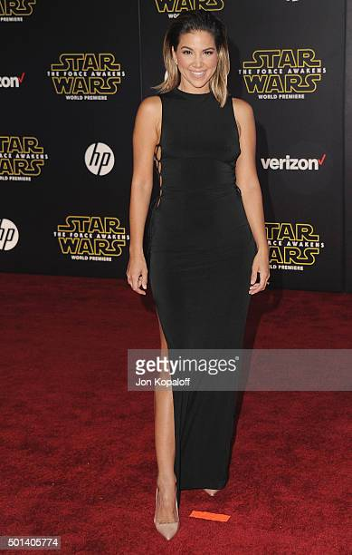 Liz Hernandez arrives at the Los Angeles Premiere 'Star Wars The Force Awakens' on December 14 2015 in Hollywood California