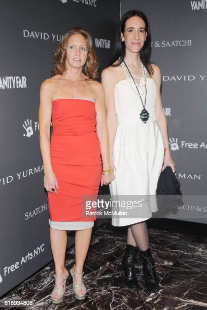 Liz Hopfan and Paltrow attend The FREE ARTS NYC 12th Annual Art Auction Benefit Presented by VANITY FAIR DAVID YURMAN at Saatchi Saatchi on May 14...