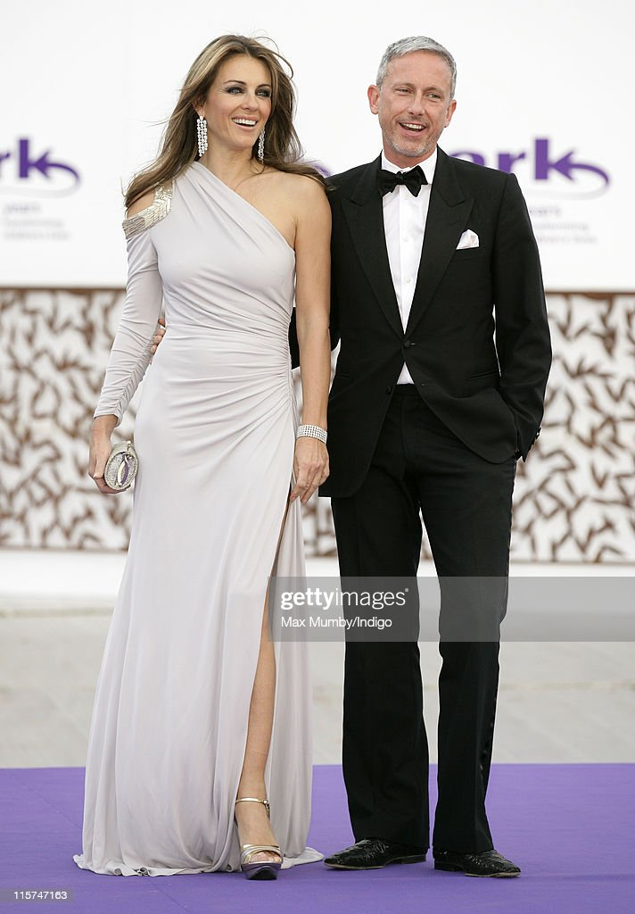 Liz Hurley and Patrick Cox attend the ARK 10th Anniversary Gala Dinner at perk's Field on June 9, 2011 in London, England.