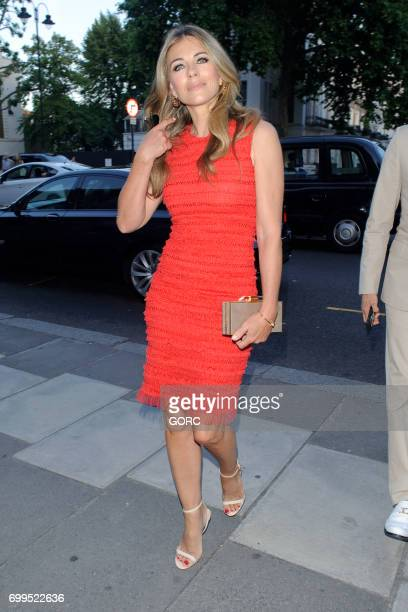 Liz Hurley arriving at the VA Summer party on June 21 2017 in London England